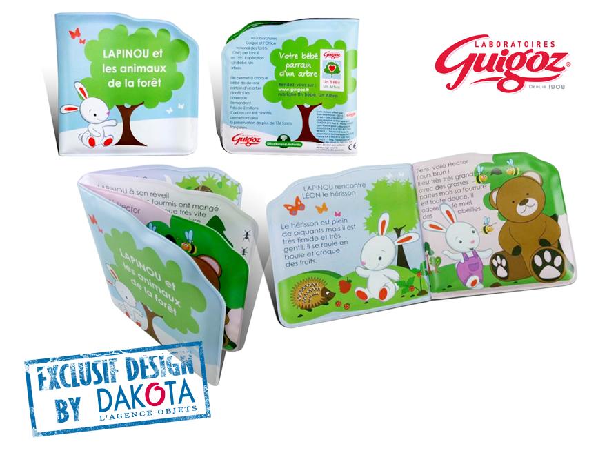 Dakota cadeau publicitaire enfant objets publicitaires_objet publicitaire Lyon_etude de cas guigoz livre de bain goodies publicitaire