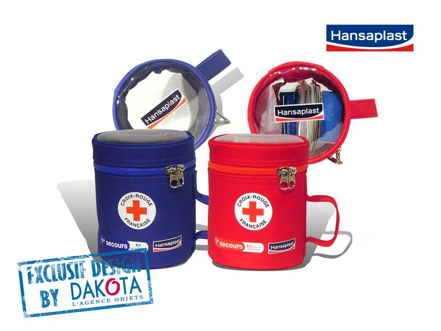 Dakota cadeau publicitaire entreprise objets publicitaires_objet publicitaire Lyon etude de cas hansaplast pochettes