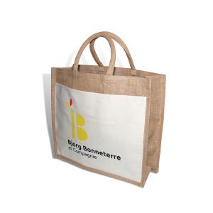 Dakota cadeau personnalisé entreprise objet publicitaireSac shopping en toile de jute Bjorg