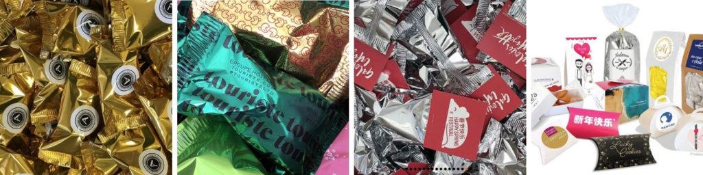 Fortune cookie personnalisé-Gateau chinois message-Conditionnement-Dakota Pub