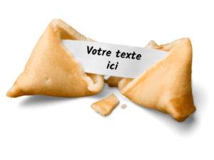 Fortune cookie personnalisé-Gateau chinois message-Votre message ici-Dakota Pub